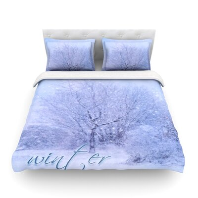 Winter Tree Lilac by Alison Coxon Featherweight Duvet Cover Size: King