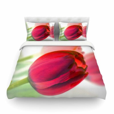 Tulips by Alison Coxon Featherweight Duvet Cover Size: King