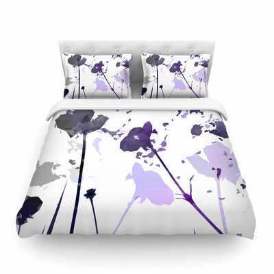 Poppies Indigo by Alison Coxon Featherweight Duvet Cover Size: Twin