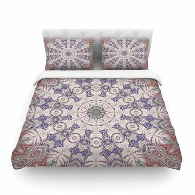 Jungle Kaleidoscope Warm by Alison Coxon Featherweight Duvet Cover Size: Queen