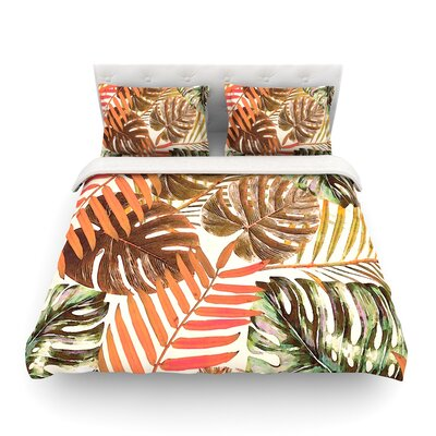 Jungle Rust by Alison Coxon Featherweight Duvet Cover Size: Twin, Color: Rust/Orange/Brown
