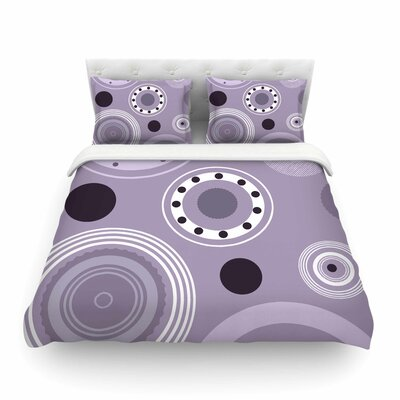 Circles Digital by Alison Coxon Featherweight Duvet Cover Size: King