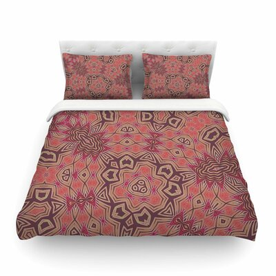 Tribal Fire by Alison Coxon Featherweight Duvet Cover Size: Twin