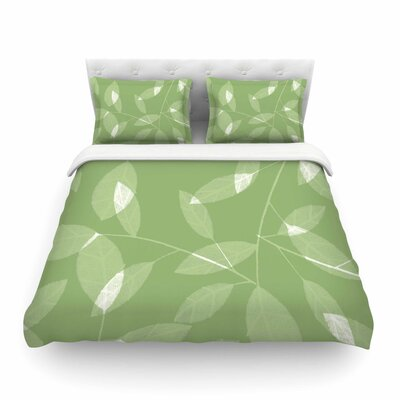 Leaf Olive by Alison Coxon Featherweight Duvet Cover Size: King