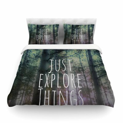 Just Explore Things by Alison Coxon Photography Featherweight Duvet Cover Size: King