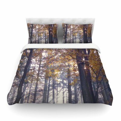 Autumn Sunbeams Trees Photography by Alison Coxon Featherweight Duvet Cover Size: Queen