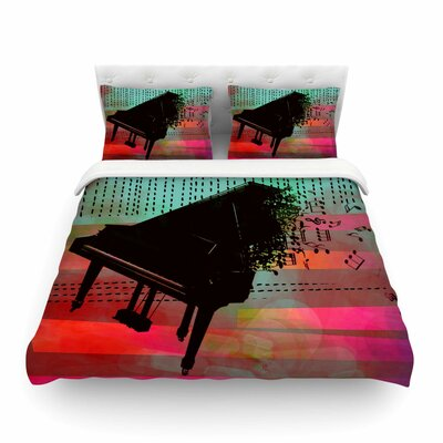 A Grand Deluge Abstract by Alyzen Moonshadow Featherweight Duvet Cover Size: Queen