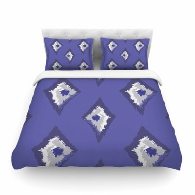 Denim Ikat by Alison Coxon Featherweight Duvet Cover Size: Twin