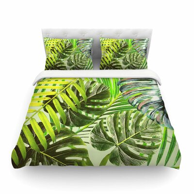 Jungle Rust by Alison Coxon Featherweight Duvet Cover Color: Green/Yellow, Size: King