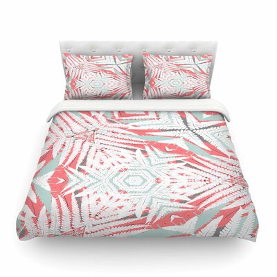 Planthouse Raspberry by Alison Coxon Featherweight Duvet Cover Size: King