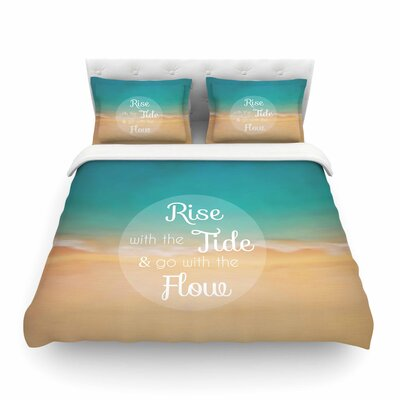 Rise With the Tide by Alison Coxon Featherweight Duvet Cover Size: Twin