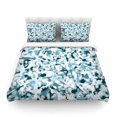 Waterflowers Digital by Angelo Cerantola Featherweight Duvet Cover Size: Queen