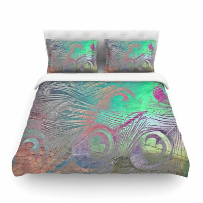 Indian Summer Abstract by Alison Coxont Featherweight Duvet Cover Size: Queen