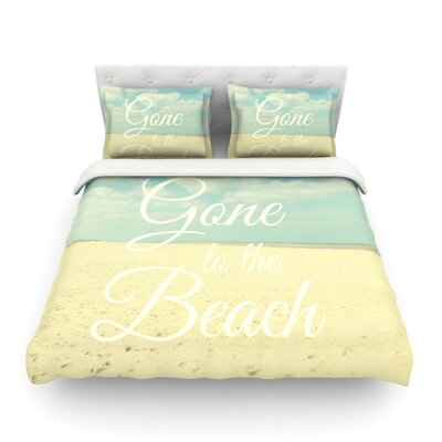Gone to The Beach Tan by Alison Coxon Featherweight Duvet Cover Size: Twin
