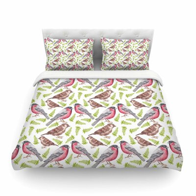 Sparrow and Bullfinch by Alisa Drukman Featherweight Duvet Cover Size: King