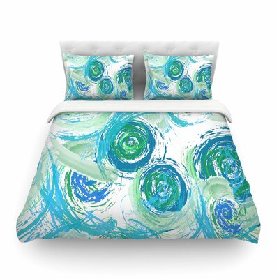 Sophia by Alison Coxon Featherweight Duvet Cover Color: Green/Blue, Size: Queen