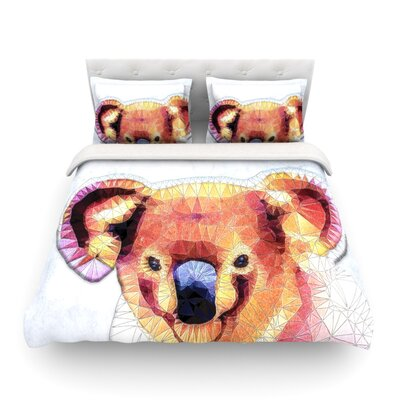 Cute Koala by Ancello Featherweight Duvet Cover Size: Twin