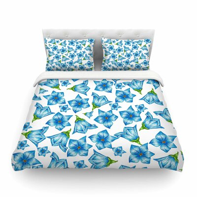 Flowers Floral Pattern by Alisa Drukman Featherweight Duvet Cover Size: King