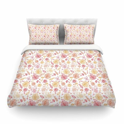Summer Line Illustration by Alisa Drukman Featherweight Duvet Cover Size: Twin