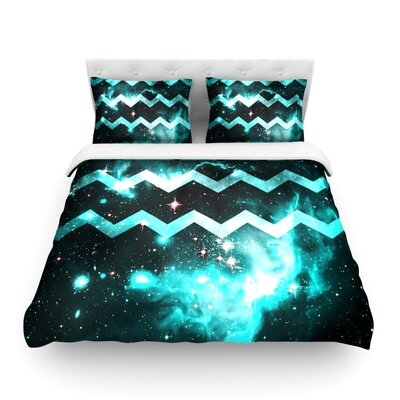 Galaxy Chevron by Alveron Featherweight Duvet Cover Size: King