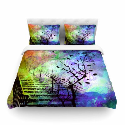 Stairway Tree by Alyzen Moonshadow Featherweight Duvet Cover Size: Queen