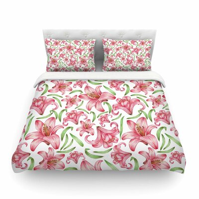 Lily Flowers Nature by Alisa Drukman Featherweight Duvet Cover Size: Twin