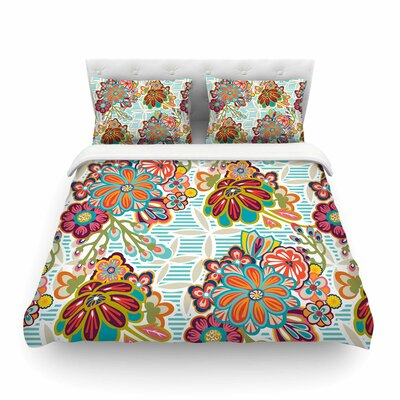 Kimono Floral by Agnes Schugard Featherweight Duvet Cover Size: Twin