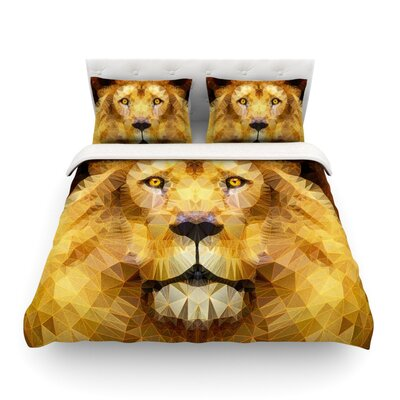 Lion King by Angelo Cerantola Featherweight Duvet Cover Size: Queen