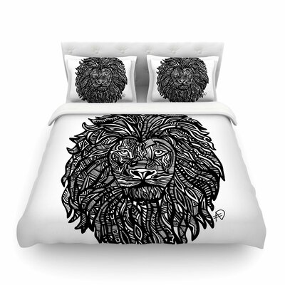 The Leon Lion Illustration by Adriana De Leon Featherweight Duvet Cover Size: King