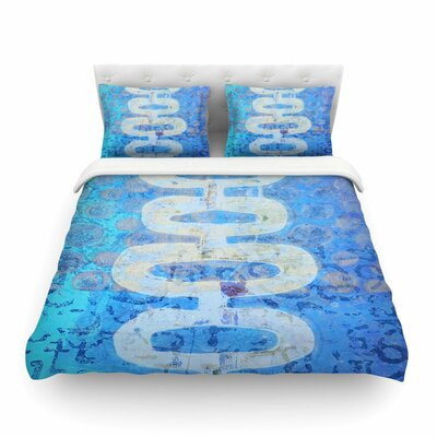 Arcane 1 Abstract by Alyzen Moonshadow Featherweight Duvet Cover Size: Twin