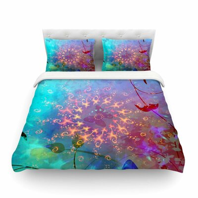 Lllusion by Alyzen Moonshadow Featherweight Duvet Cover Size: Twin