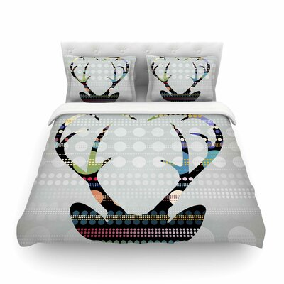 Pop Deer by Angelo Cerantola Featherweight Duvet Cover Size: Twin