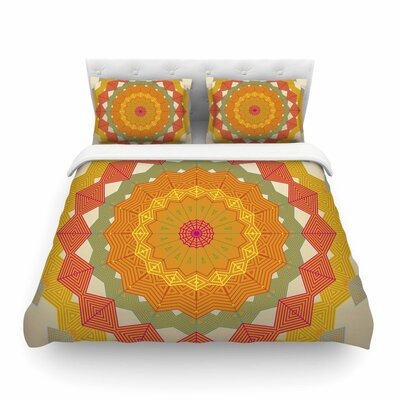 Composition by Angelo Cerantola Featherweight Duvet Cover Color: Orange, Size: Queen
