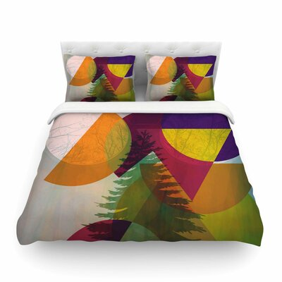 Hidden Face by Alyzen Moonshadow Featherweight Duvet Cover Size: Queen