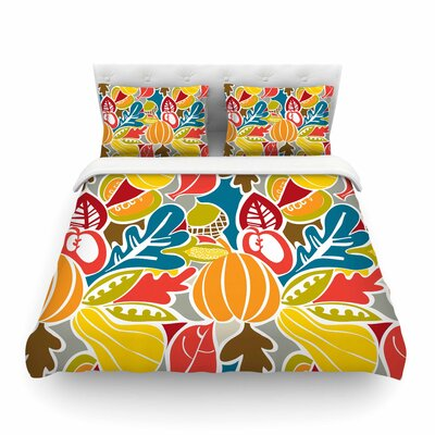 Fall Harvest Food by Agnes Schugard Featherweight Duvet Cover Size: King