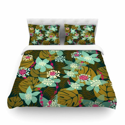 Tropical Floral by Amy Reber Featherweight Duvet Cover Size: King