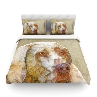 Abstract Dog Geometric by Ancello Featherweight Duvet Cover Size: King