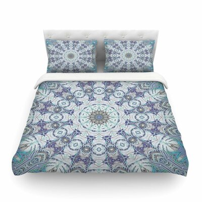 Jungle Kaleidoscope Cool by Alison Coxon Featherweight Duvet Cover Size: Queen