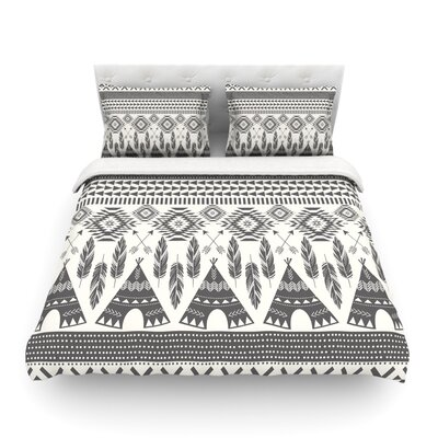 Native Roots by Amanda Lane Featherweight Duvet Cover Size: Queen