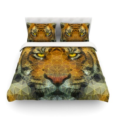 Be Wild Geometric by Ancello Featherweight Duvet Cover Size: Twin