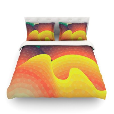 Waves Waves by Akwaflorell Featherweight Duvet Cover Size: Queen