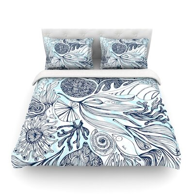 Marina by Anchobee Featherweight Duvet Cover Size: Queen