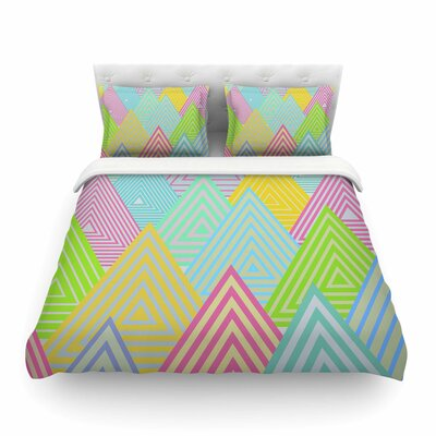 Pastel Mountains Pastel by Angelo Cerantola Featherweight Duvet Cover Size: Queen