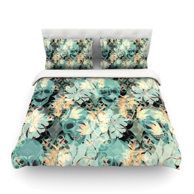 Dead S Head Party by Akwaflorell Featherweight Duvet Cover Size: Twin, Fabric: Lightweight Polyester