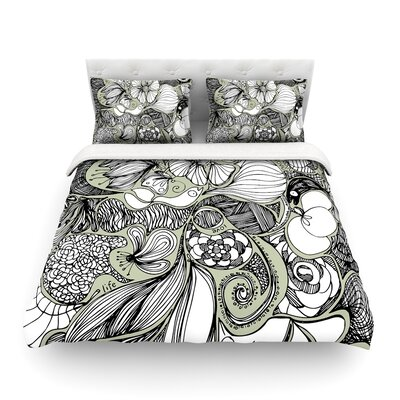 Doodle Dos by Anchobee Featherweight Duvet Cover Size: Twin
