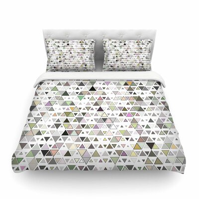 Triangulation Geometric by Angelo Cerantola Featherweight Duvet Cover Size: King