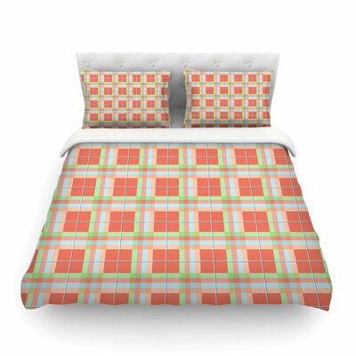 Summer Plaid Pattern Pattern by Afe Images Featherweight Duvet Cover Size: King