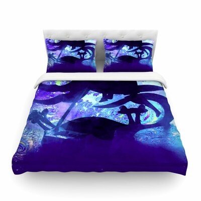 Midnight Horse by Alyzen Moonshadow Featherweight Duvet Cover Size: King