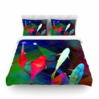 Fish 2 by Alyzen Moonshadow Featherweight Duvet Cover Size: King
