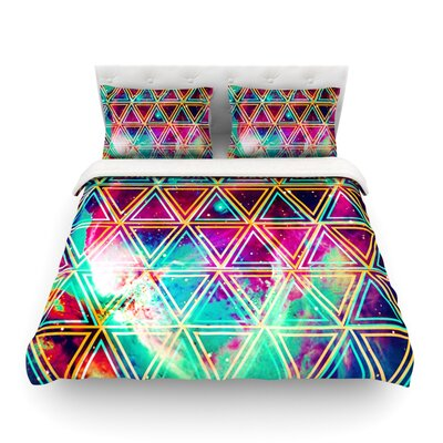 Geo Galaxy Rainbow by Alveron Featherweight Duvet Cover Size: King